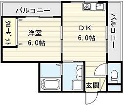 インフィルドII[3階]の間取り