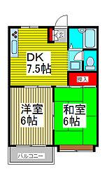 クレストF2[2階]の間取り