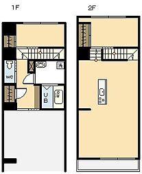 AKH D[1階]の間取り