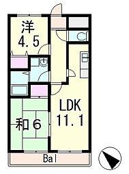 中沢椋館[2階]の間取り