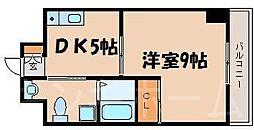 広島県安芸郡海田町南大正町の賃貸マンションの間取り