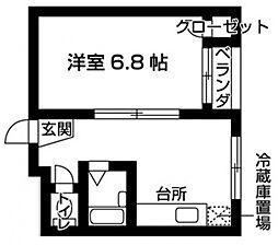 梅ヶ枝三番館[3階]の間取り