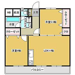 武末第一ビル[702号室]の間取り