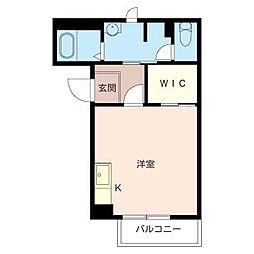 ドミール久松[1階]の間取り