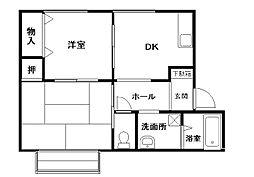 サンヒル岸和田III[1階]の間取り
