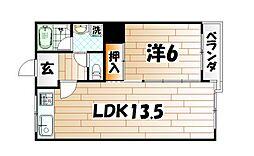 城野駅前ビル[6階]の間取り
