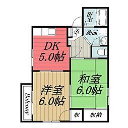 千葉県千葉市緑区あすみが丘3丁目の賃貸アパートの間取り