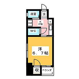 サンアップロイヤルガーデン広小路[6階]の間取り