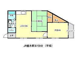 兵庫県神戸市垂水区中道2丁目の賃貸マンションの間取り