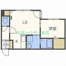 北海道札幌市東区本町二条1の賃貸マンションの間取り