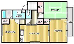 大阪府高槻市緑が丘3丁目の賃貸アパートの間取り