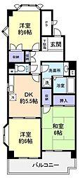 樫山ビル[5階]の間取り