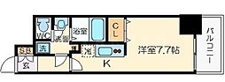 アドバンス心斎橋グランガーデン[8階]の間取り