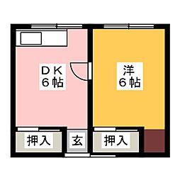 第二加賀荘[1階]の間取り