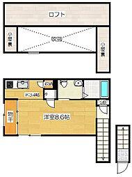 第3永伸アパート[206号室]の間取り
