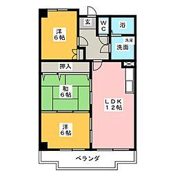 平安ビル[2階]の間取り