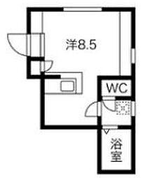 東急田園都市線 用賀駅 徒歩14分の賃貸マンション 3階ワンルームの間取り