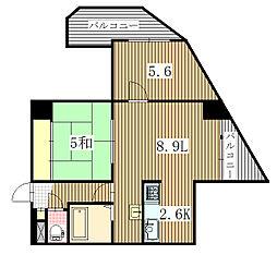 コーワ宮の沢III[2階]の間取り
