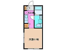コーポ若紫[2階]の間取り