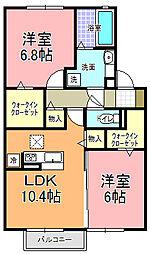 仮)D−room宮田町A[1階]の間取り