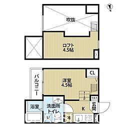 大阪府堺市堺区東雲西町2丁の賃貸アパートの間取り