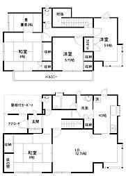 [一戸建] 埼玉県幸手市香日向2丁目 の賃貸【/】の間取り