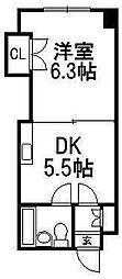 第2晃和ビル[4階]の間取り