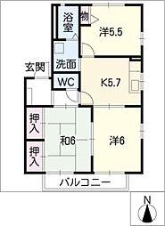 フレグランスTY[2階]の間取り