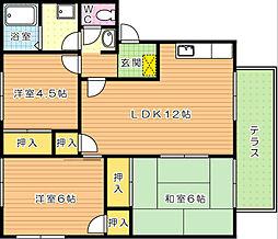 リゾット花房 A棟[1階]の間取り