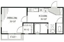 東京都北区赤羽北3丁目の賃貸マンションの間取り