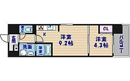 ルーエ桜川[2階]の間取り