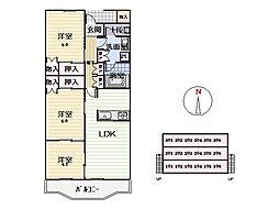 クプラマンション[102号室]の間取り
