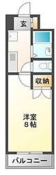 シティオ江坂[3階]の間取り