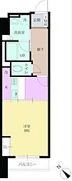 パワーハウスザレジデンス 12階1Kの間取り