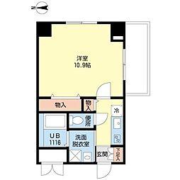 JR大阪環状線 桃谷駅 徒歩4分の賃貸マンション 4階1Kの間取り