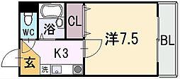 ロイヤルハイム上小阪[2階]の間取り