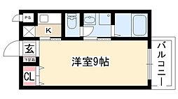 愛知県日進市赤池1丁目の賃貸マンションの間取り