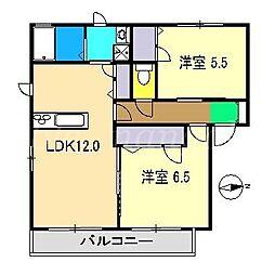 シャーメゾン・ヴィアーレD棟II[2階]の間取り