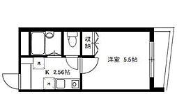 東京都北区志茂5丁目の賃貸マンションの間取り