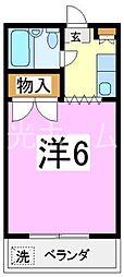 プチ・セゾン弥生[2階]の間取り