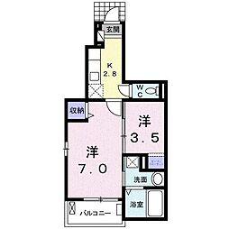 大滝前田ビルB[1階]の間取り