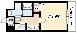 Cieluje中村日赤 5階1Kの間取り
