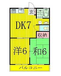 高田田口ハイツ[2階]の間取り