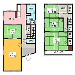 [一戸建] 愛知県名古屋市緑区青山4丁目 の賃貸【/】の間取り