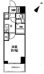 セレニテ神戸元町クレア 14階1Kの間取り