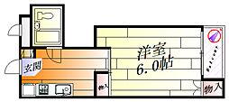 山崎第二ハイツ[3階]の間取り