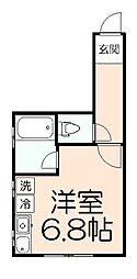 多摩都市モノレール 大塚・帝京大学駅 徒歩3分の賃貸マンション 3階1Kの間取り