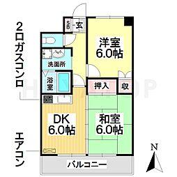愛知県名古屋市瑞穂区井戸田町4の賃貸マンションの間取り