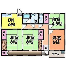 [一戸建] 愛媛県松山市夏目 の賃貸【愛媛県 / 松山市】の間取り