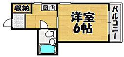 兵庫県川西市小戸2の賃貸マンションの間取り
